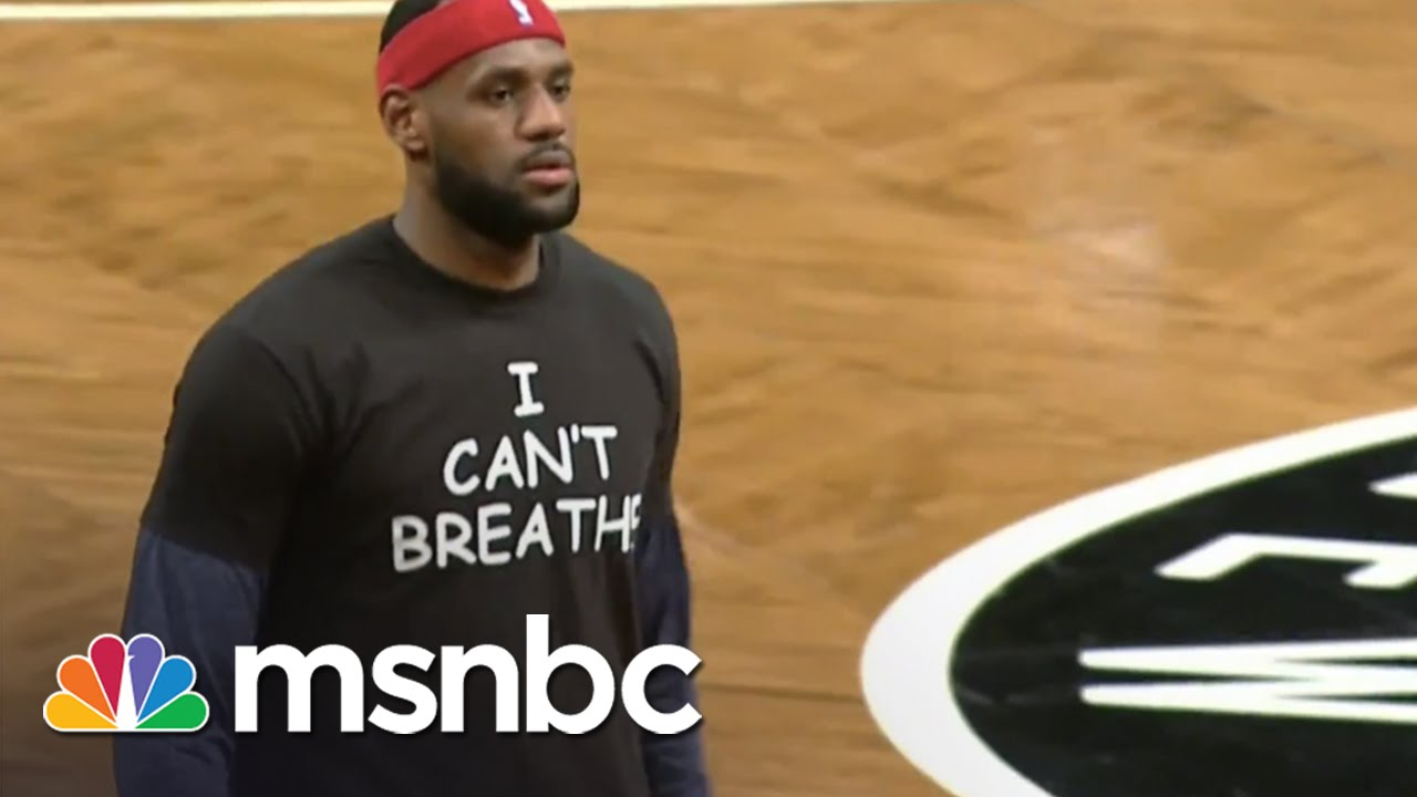 LeBron James Wears 'I Can't Breathe' Shirt   msnbc thumbnail