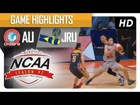 AU vs JRU |  Game Highlights | NCAA September 13, 2016