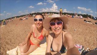 #850 Россия Санкт Петербург Пляж в Солнечном Шторм на Финском заливе
