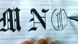 Gothic Calligraphy Alphabet | Gothic Calligraphy Compilation | How To Write Gothic Calligraphy Fonts