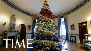 First Lady Melania Trump Receives The 2017 White House Christmas Tree   LIVE   TIME