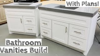 Building TWO Vanities for half the price of buying JUST ONE | With Build Plans!