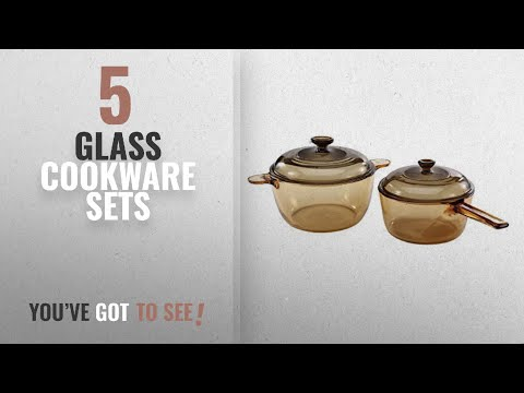Best Glass Cookware Sets [2018]: VISIONS 4-pc Cookware Set