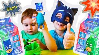 PJ Masks Лепим из пластилина Гекко и Кэтбоя Герои в масках Новая серия 2018 Видео для детей