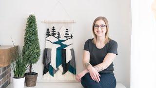 How To Warp A Frame Loom + River Weaving Vlog