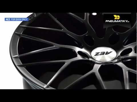 Youtube AEZ Antigua dark 8x18 5x120 ET14 Matně černý lak