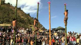 Get set go: Naga greased pole climbing competition