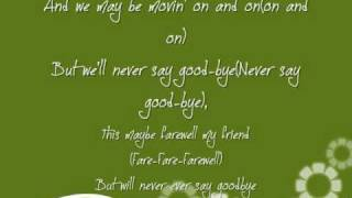 Never Say Good-Bye by Marques Houston Lyrics
