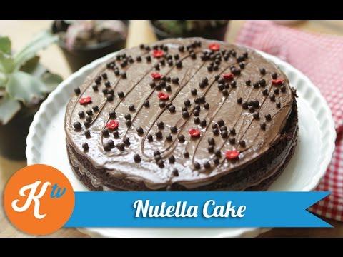 Video Resep Kue Coklat Nutella (Nutella Cake Recipe Video)   PUTRI MIRANTI