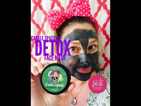 Perfectly Posh Cackle Spackle Face Mask {DEMO with brush}