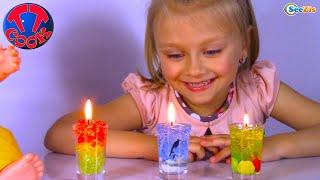 Кукла Беби Борн и Ярослава делают разноцветные Гелевые Свечи   Видео для детей   Baby Born Doll