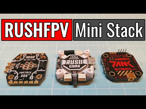 RUSHFPV - RUSH MINI STACK - Rush Core 7 - Rush Matrix 30A - Rush Tank Mini VTX - from Banggood