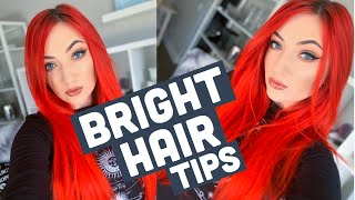 BRIGHT HAIR TIPS: How I Prevent My Color From Fading!