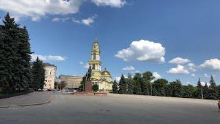 #Липецк. Соборная площадь. Каскад фонтанов. Комсомольский пруд. 15.07.2019