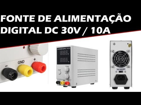 Unboxing Review Fonte de Alimentação Digital DC 30V / 10A