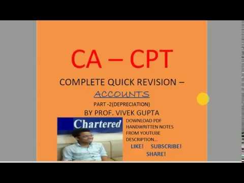 CA - CPT ACCOUNTS QUICK REVISION
