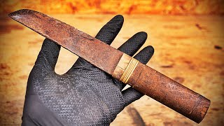 repair an old Japanese knife with a Kimono