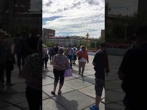 Видеофакт: В Якутске прошла несанкционированная акция в поддержку Хабаровска