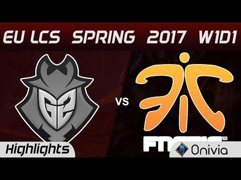 2017歐洲LCS聯賽-G2 vs FNC Highlights Game 1 精華