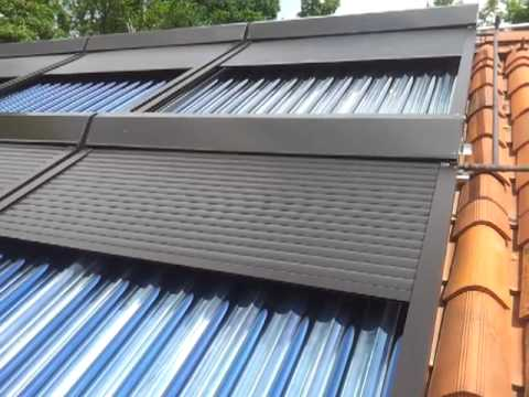 Tende solari elettrificate - apertura