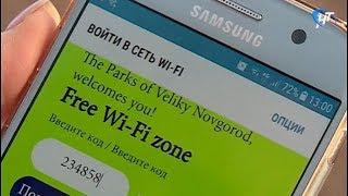 В новгородском Кремлевском парке заработал бесплатный Wi-Fi