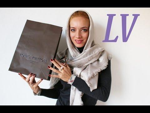 Шаль Louis Vuitton: как отличить оригинал, как носить