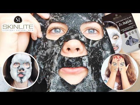 Тест-драйв / Черная пузырьковая маска Skinlite / Что случилось с моим лицом?