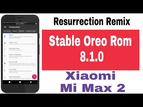 Stable Oreo 8 1 For Xiaomi Mi Mix 2 (Resurrection Remix v6 0