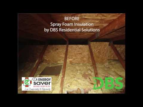 This video shows a before and after look of insulating an attic with Spray foam insulation. The spray foam was used at the base of the attic because it was proceeded with a layer of blown-in cellulose insulation. If you have questions about this service please give us a call!