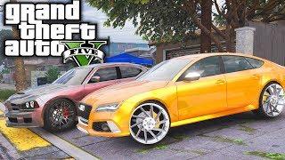 Audi RS7 On 24s! GTA 5 Real Hood Life 3 #8 (Real Life Mod)