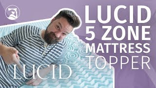 Lucid 5-Zone Memory Foam Mattress Topper Review - Cool And Comfortable?