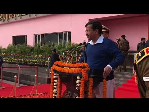 Delhi CM Arvind Kejriwal speaks at the Delhi state Republic Day celebrations 2018