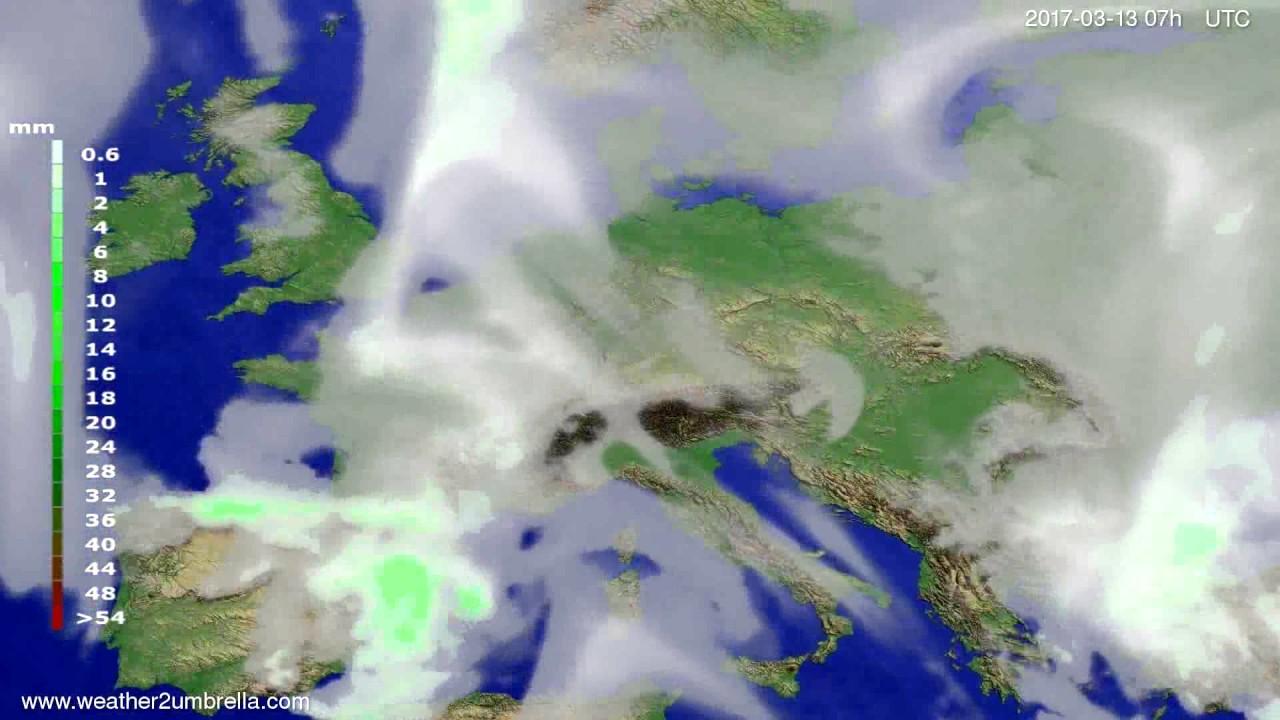 Precipitation forecast Europe 2017-03-09