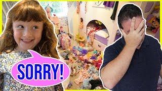 Kids Bedrooms Trashed! Ava Isla And Olivia Bedroom Makeover Challenge!