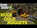 Farming Simulator 17 FINDING HUGE GOLD NUGGETS IN GOLDCREST VALLEY