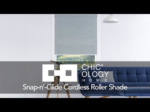 Video for View-tiful White 72 x 31 In. Snap-N-Glide Cordless Roller Shades