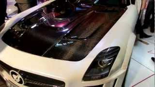 preview picture of video 'Hamann  Mercedes-Benz SLS 63 AMG Engine Sound in Erbil auto show'
