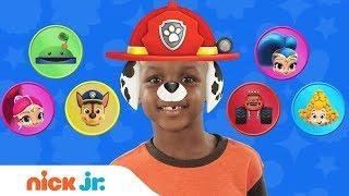 Play Junior Dress Up w/ PAW Patrol, Blaze & Bubble Guppies 🐠 Ep. 1   Nick Jr.