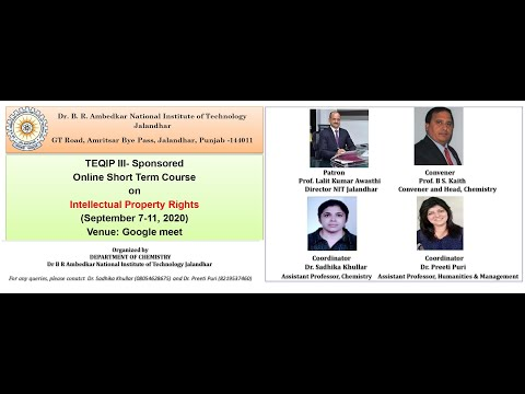 DAY-1: Online Short Term Course on Intellectual Property Rights ...