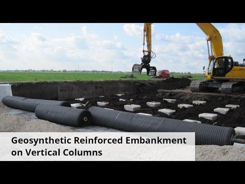 Применение геосинтетических материалов в качестве гибкого ростверка свайных оснований