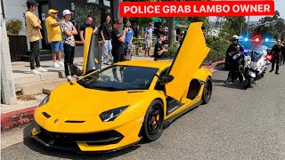 POLICE PULL OVER LAMBORGHINI OWNER AND DETAIN …