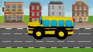 Школьный автобус - Машинки из пластилина - Как слепить