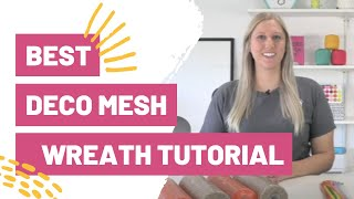 Hands Down Best Deco Mesh Wreath Tutorial For Beginners
