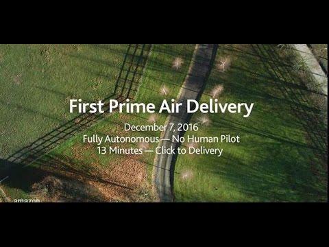 Amazon dostarczył pierwsze zakupy za pomocą drona