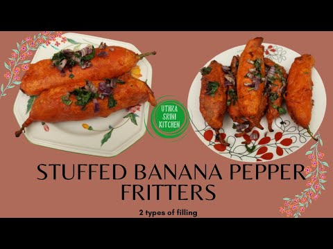 , title : 'Stuffed Banana Pepper Fritters | Stuffed Mirchi Bajji | Milagai Bajji | 2 types Stuffed Mirchi Bajji