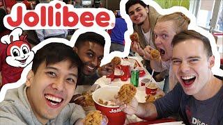 AMERICANS EAT JOLLIBEE :: FILIPINO FOOD TASTE TEST | LuisYoutube