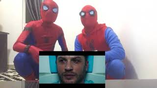 VENOM Official Teaser Trailer Reaction by Spiderman Homecoming Bros