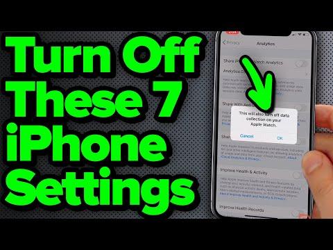 Wat je uit moet zetten op je Iphone