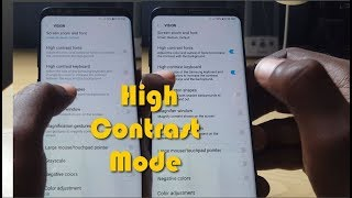 Enable High Contrast Mode Galaxy S8 and Note 8