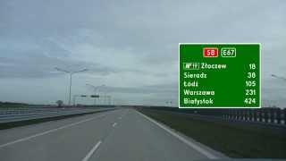 preview picture of video 'Droga Ekspresowa / Expressway S8 Wieluń - Złoczew'
